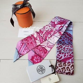Hermes - 未使用【エルメス】ジャングル・ラブ・レインボー ツイリー スカーフ