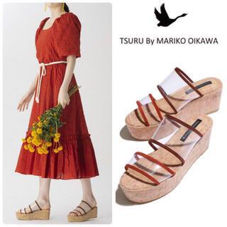 TSURU by Mariko Oikawa - 雑誌掲載◇ツルバイマリコオイカワ Harper ウエッジソール 新品 23.5