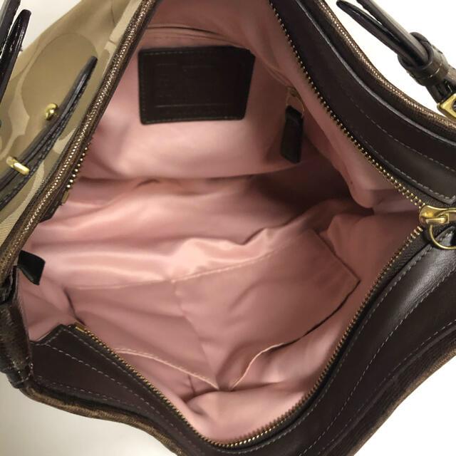 COACH(コーチ)の【美品】 コーチ ショルダーバッグ バッグ 肩掛け ブラウン A4 レディースのバッグ(ショルダーバッグ)の商品写真