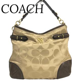 COACH - 【美品】 コーチ ショルダーバッグ バッグ 肩掛け ブラウン A4