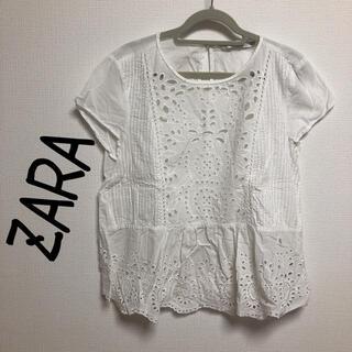 ZARA - ZARA レース刺繍ブラウス