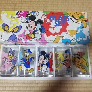 Disney - ディズニー ステップグラス5個セット 大西 レトロ 昭和