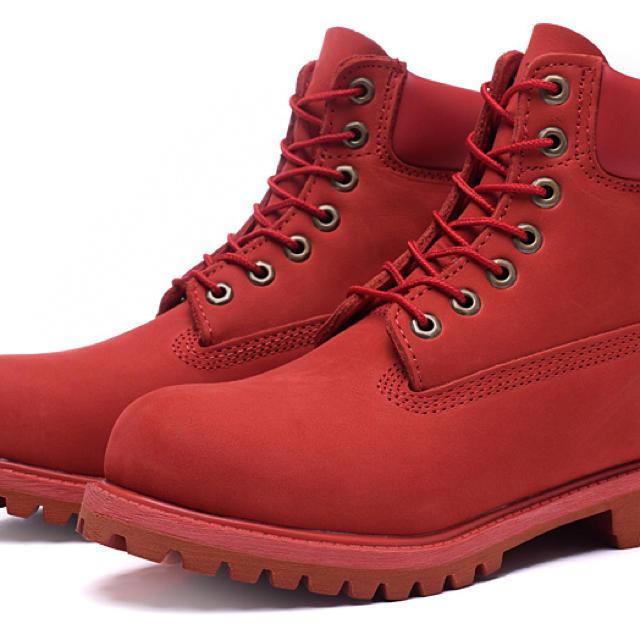 Timberland(ティンバーランド)のティンバーランド 赤 24センチ メンズの靴/シューズ(ブーツ)の商品写真