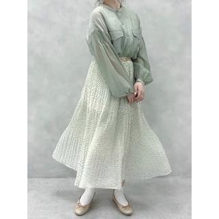 オリーブデオリーブ(OLIVEdesOLIVE)の《OLIVE des OLIVE》花柄 フラワー プリーツティアードスカート F(ロングスカート)