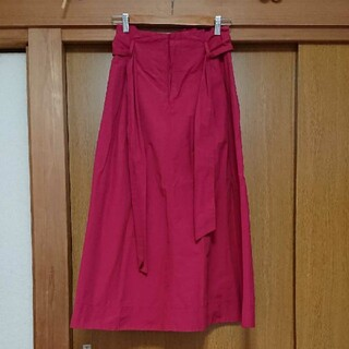 エージーバイアクアガール(AG by aquagirl)のワインレッド フレアスカート(ロングスカート)