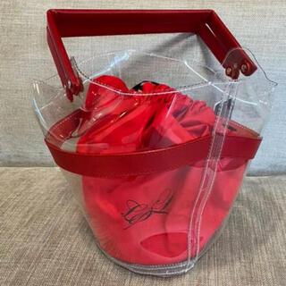 ラドロー(LUDLOW)のラドロー クリアバスケット 赤 未使用(かごバッグ/ストローバッグ)