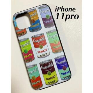 iPhone11proケース アンディーウォーホール スープ缶 カラフル