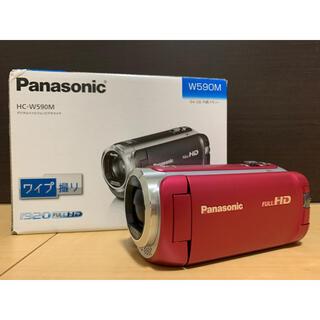 Panasonic - ビデオカメラ ピンク HC-W590M-P