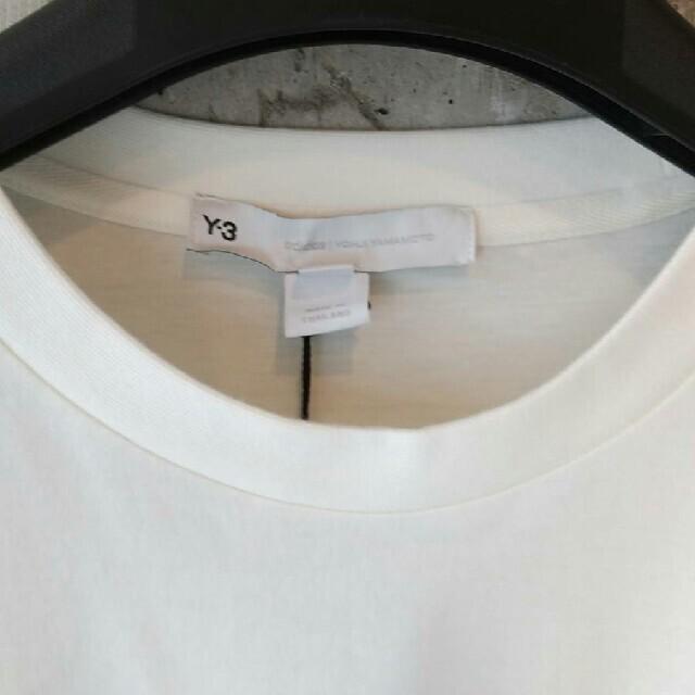 Y-3(ワイスリー)のY-3  ワイスリー  長袖Tシャツ  ロンT  ホワイト  M メンズのトップス(Tシャツ/カットソー(七分/長袖))の商品写真