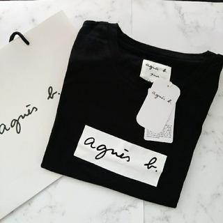 アニエスベー(agnes b.)のアニエスベ-アダムエロぺボックスロゴTシャツ Mサイズ(Tシャツ(半袖/袖なし))