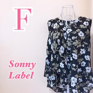 サニーレーベル(Sonny Label)のSonny Label サニーレーベル 花柄シフォンノースリーブブラウス(シャツ/ブラウス(半袖/袖なし))