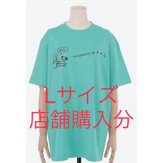 シー(SEA)のWIND AND SEA スヌーピー コラボ Tシャツ Lサイズ ミントグリーン(Tシャツ/カットソー(半袖/袖なし))
