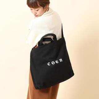 coen - coen コーエン ロゴトートバッグ ブラック