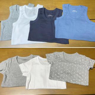 ニシマツヤ(西松屋)の90サイズ 肌着ランニング4枚+半袖シャツ3枚セット(下着)
