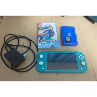 ニンテンドースイッチ(Nintendo Switch)のNintendo Switch LITE (箱なし)ソフトつき! 即日発送!!(携帯用ゲーム機本体)