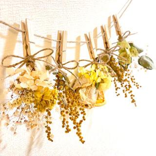 ドライフラワー スワッグ ガーランド ミモザ  紫陽花 ユーカリ 紫陽花 (ドライフラワー)
