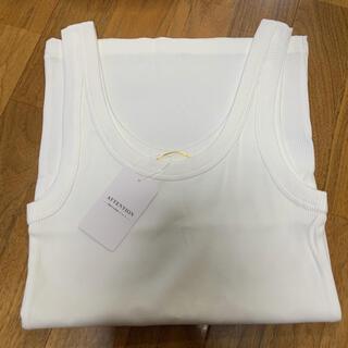 DEUXIEME CLASSE - ドゥーズィエムクラス リブニット ノースリーブ タンクトップ ホワイト 白