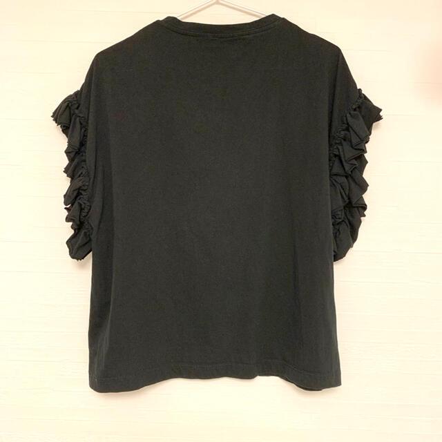 JOURNAL STANDARD(ジャーナルスタンダード)のジャーナルスタンダード クリアコットン フリルTee 黒 トップス FREE レディースのトップス(Tシャツ(半袖/袖なし))の商品写真