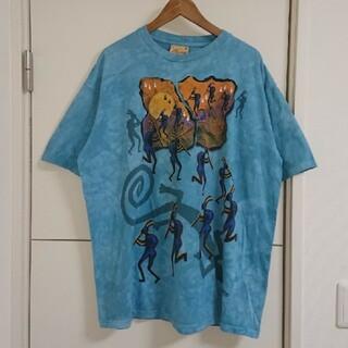 マウンテン タイダイTシャツ 90s古着 デカプリント ビッグシルエット