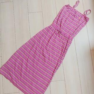ラルフローレン(Ralph Lauren)のラルフローレン キッズ ボーダーワンピース ピンク M 8-10 140cm(ワンピース)