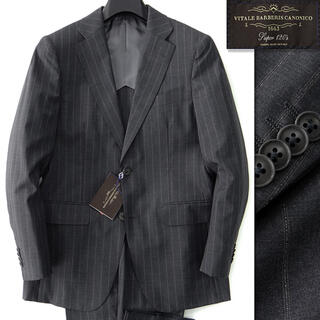 新品 9.3万 トロージャン 春夏 CANONICO 120's スーツ AB5