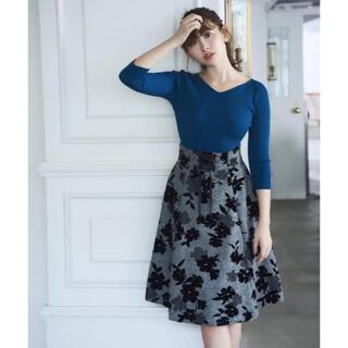 リランドチュール(Rirandture)の極美品♡リランドチュール フロッキーフレアスカート(ひざ丈スカート)