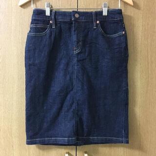 ムジルシリョウヒン(MUJI (無印良品))の無印良品 MUJU デニム タイトスカート ひざ丈スカート インディゴ(ひざ丈スカート)