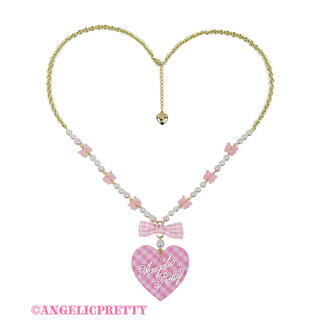 Angelic Pretty - Angelic Pretty Lovely ギンガムネックレス ピンク