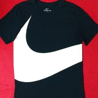 ナイキ(NIKE)のNIKE ビッグロゴ スウッシュ スウォッシュ S ブラック ホワイト 黒 白(Tシャツ/カットソー(半袖/袖なし))