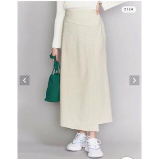ビューティアンドユースユナイテッドアローズ(BEAUTY&YOUTH UNITED ARROWS)のリネンライクラップスカート(ロングスカート)