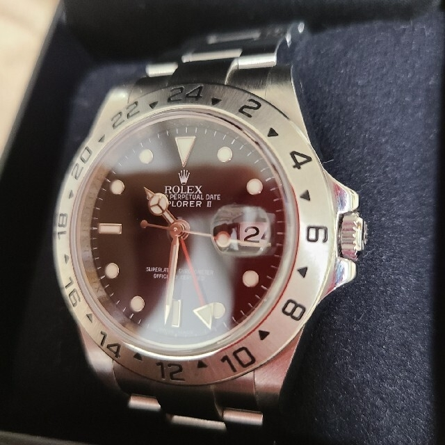 ROLEX(ロレックス)のロレックス エクスプローラII 16570 ルーレット メンズの時計(腕時計(アナログ))の商品写真