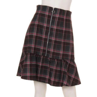 リランドチュール(Rirandture)のチェック切替えAラインスカート(ひざ丈スカート)