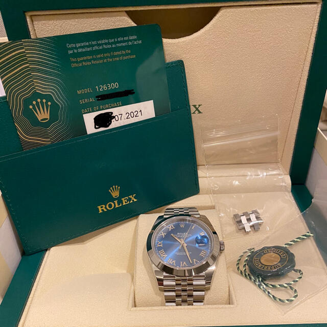 ROLEX(ロレックス)のロレックス 126300 デイトジャスト ジュビリーブレス メンズの時計(腕時計(アナログ))の商品写真