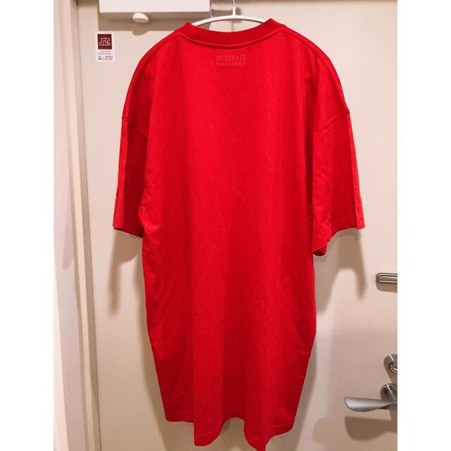 Balenciaga(バレンシアガ)の【定価6万】新品 VETEMENTS フロント ロゴ Tシャツ 赤 XS メンズのトップス(Tシャツ/カットソー(半袖/袖なし))の商品写真