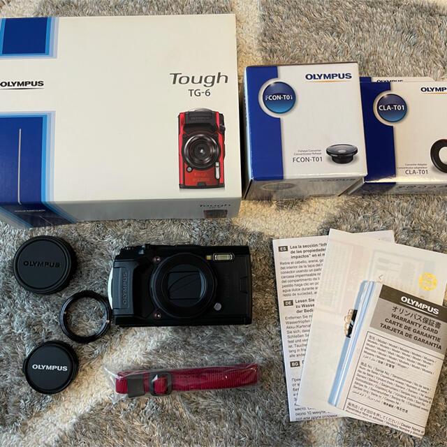 OLYMPUS(オリンパス)のオリンパス OLYMPUS TG-6 ブラック FCON-T01 CLA-T01 スマホ/家電/カメラのカメラ(コンパクトデジタルカメラ)の商品写真