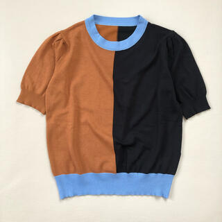 ENFOLD - セレクトショップ購入 バイカラーニット【ブルーライン】