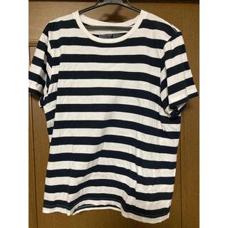 ムジルシリョウヒン(MUJI (無印良品))の無印良品 ボーダー Tシャツ ネイビー ホワイト(Tシャツ/カットソー(半袖/袖なし))