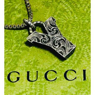 Gucci - GUCCI グッチ シルバー Y イニシャル ネックレス (75)中古 美品