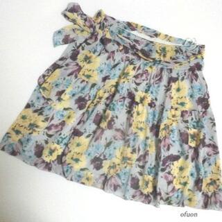 オフオン(OFUON)のofuon オフオン 超素敵! 花柄 スカート 38(ミニスカート)
