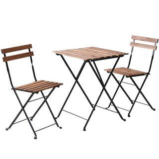 テーブル チェア付き ガーデン3点セット (テーブル1点&チェア2点セット)