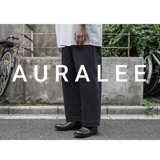 AURALEE Washed Finx Chino Wide Pants 3