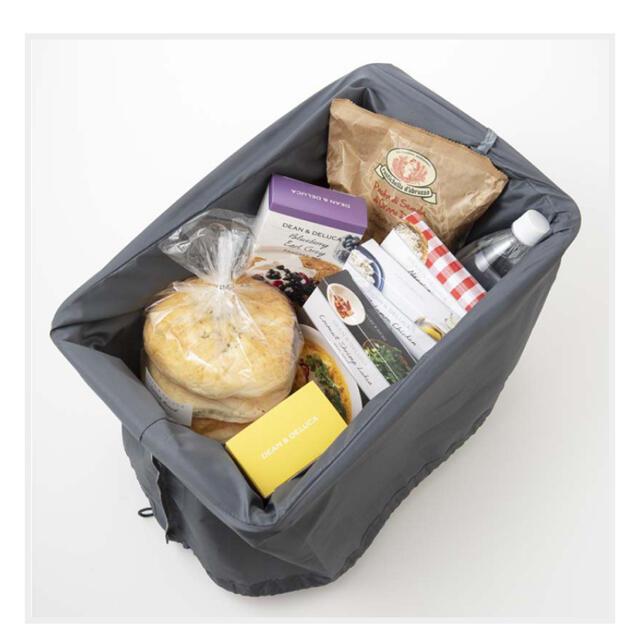 DEAN & DELUCA(ディーンアンドデルーカ)のディーン&デルーカ レジかご買い物バッグ&保冷ボトルケース レディースのバッグ(エコバッグ)の商品写真