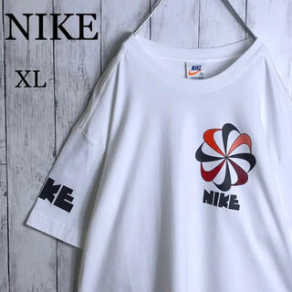NIKE - 【美品】ナイキ 復刻 オレンジタグ デカロゴ ビッグロゴ Tシャツ XL 白
