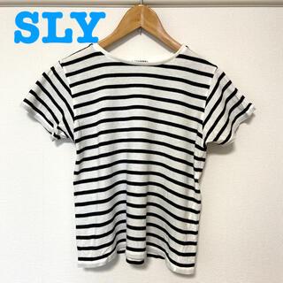 SLY - SLY ボーダー Tシャツ 半袖 カットソー スライ マウジー GU ユニクロ