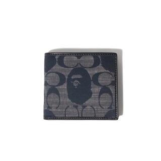 アベイシングエイプ(A BATHING APE)のBAPE X COACH COIN WALLET ベイプ コーチ 折り畳み財布(折り財布)