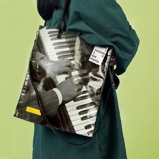 RAF SIMONS - retro photo tote bag /piano/