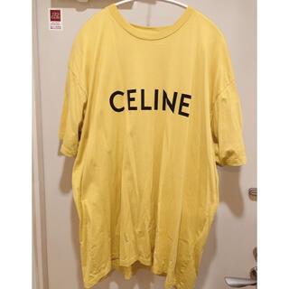 セリーヌ(celine)のCELINE ロゴ イエロー Tシャツ XL オーバーサイズ(Tシャツ/カットソー(半袖/袖なし))