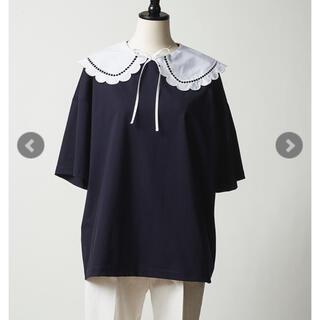 ドゥロワー(Drawer)のjinca様専用 yori 新品タグ付きスカラップカラーカットソー2021SP (カットソー(半袖/袖なし))