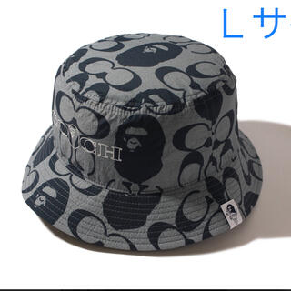 A BATHING APE - Bape✖️Coach  Bucket Hat L