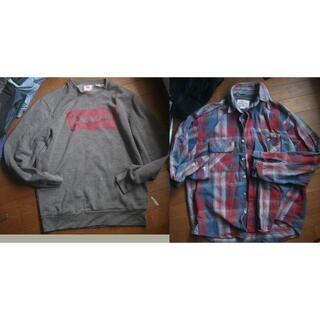 リーバイス(Levi's)の米国製 2点セット L  リーバイス ネルシャツ トレーナー (シャツ)